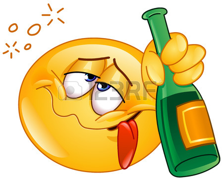 35512034-drunk-emoticon-holding-an-alcoholic-drink-bottle